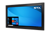X4222-RT Industrial Panel Monitor - Resistive Touch Screen - Matte Black Finish