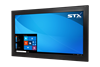 X4322-RT Industrial Panel Monitor - Resistive Touch Screen - Matte Black Finish